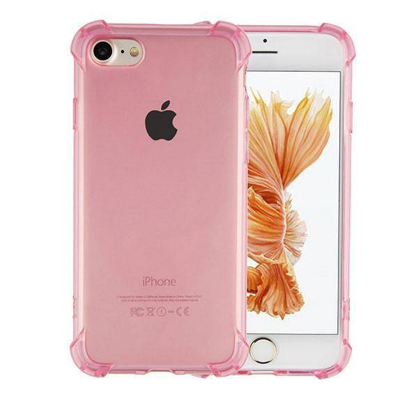 Shockproof tpu 1.5mm iphone 6/6s transparant roze