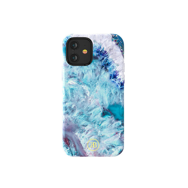 Crystal Telefoon hoesje iPhone 12 mini Blauw