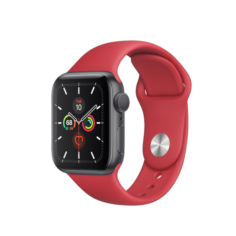 Silicon bandje 42/44 mm apple watch rood