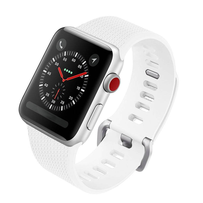 Silicon bandje 42 mm apple watch wit