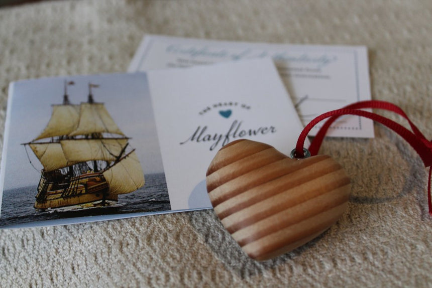 Mayflower II Wooden Heart