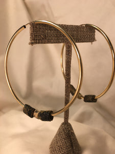 14k Gold Hoops with Kapa Beads