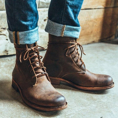 Vintage Goodyear Handmade Genuine Leather Boots - sofafans