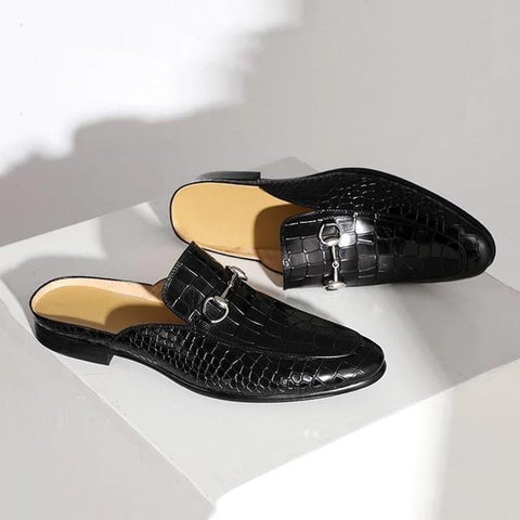 Hot Sale Fashion Crocodile Pattern Backless Loafers - sofafans