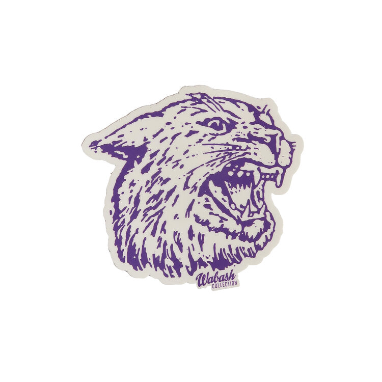 Angry Cat Profile K-State Sticker