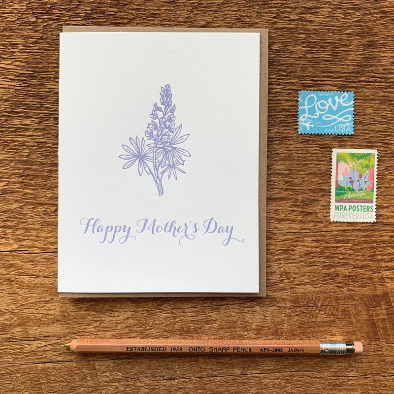 Mom Lupine Card