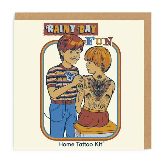 Rainy Day Fun Home Tatoo Kit Greeting Card