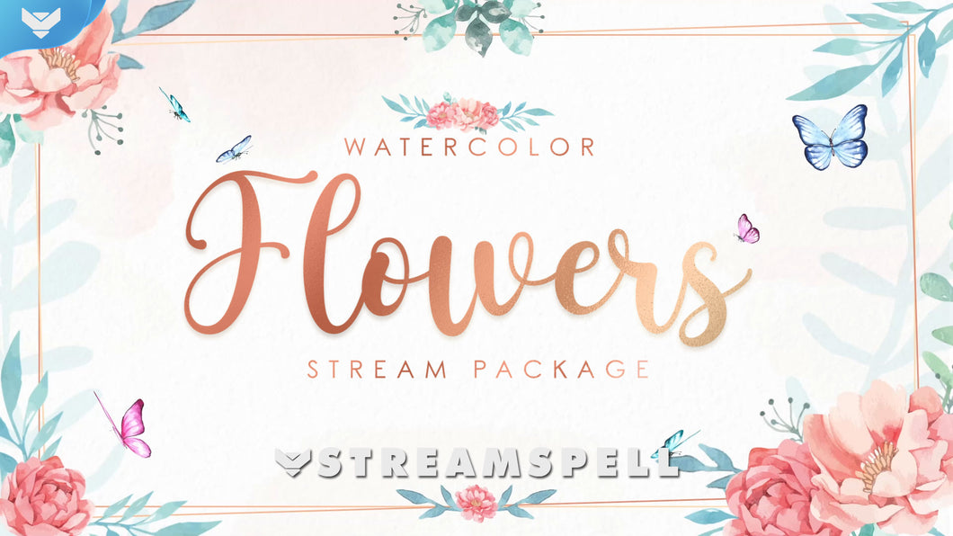 Pacote de Stream Watercolor Flowers