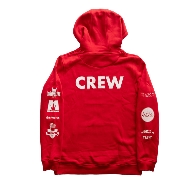 """The Crew"" Red hoodie"