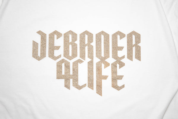 JEBROER 4 LIFE T-SHIRT WHITE / GOLD