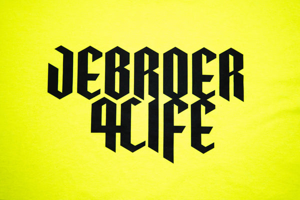 JEBROER 4 LIFE T-SHIRT NEON YELLOW
