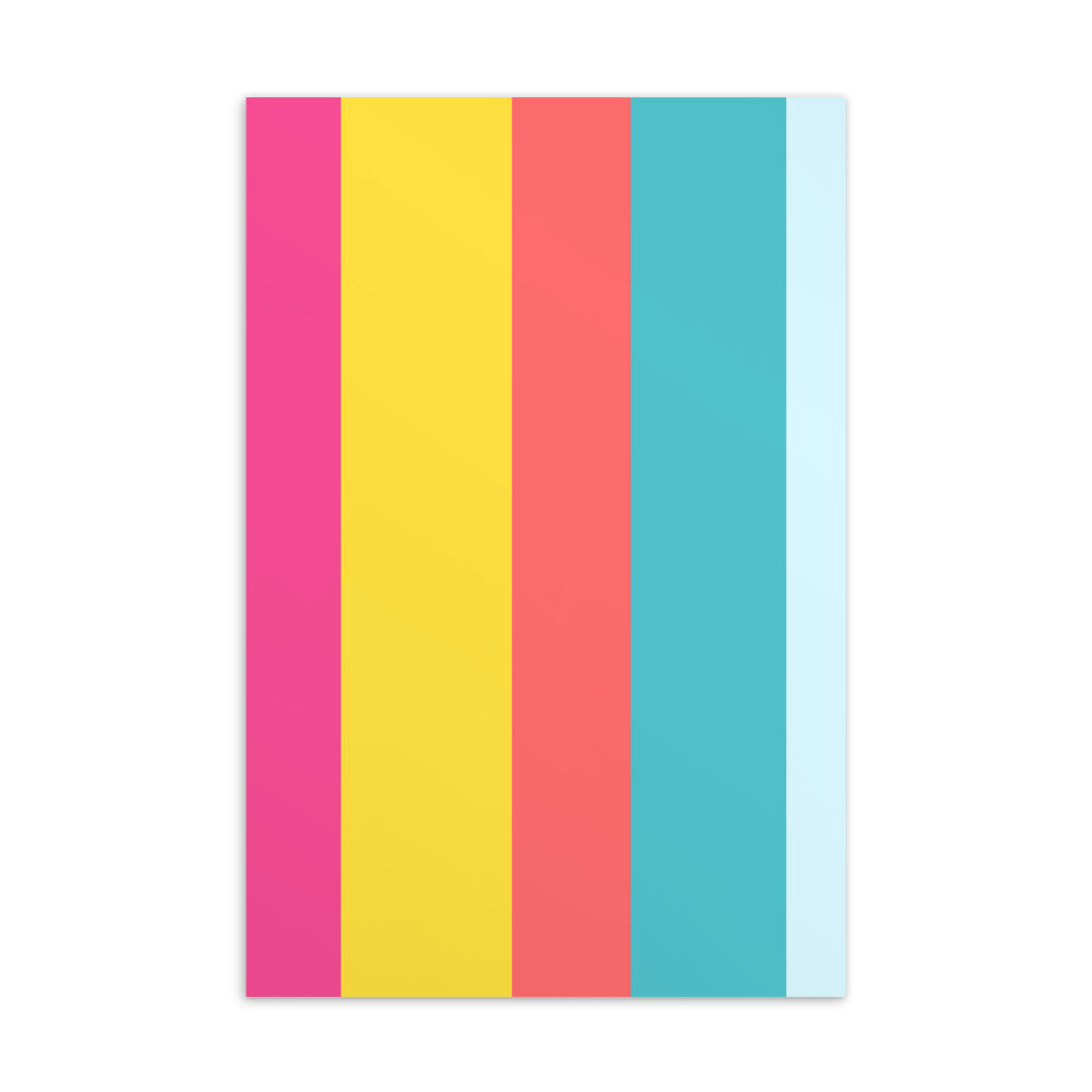 Summer Stripes Postcard