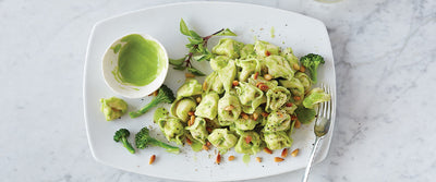 Tortellini with Broccoli Pesto