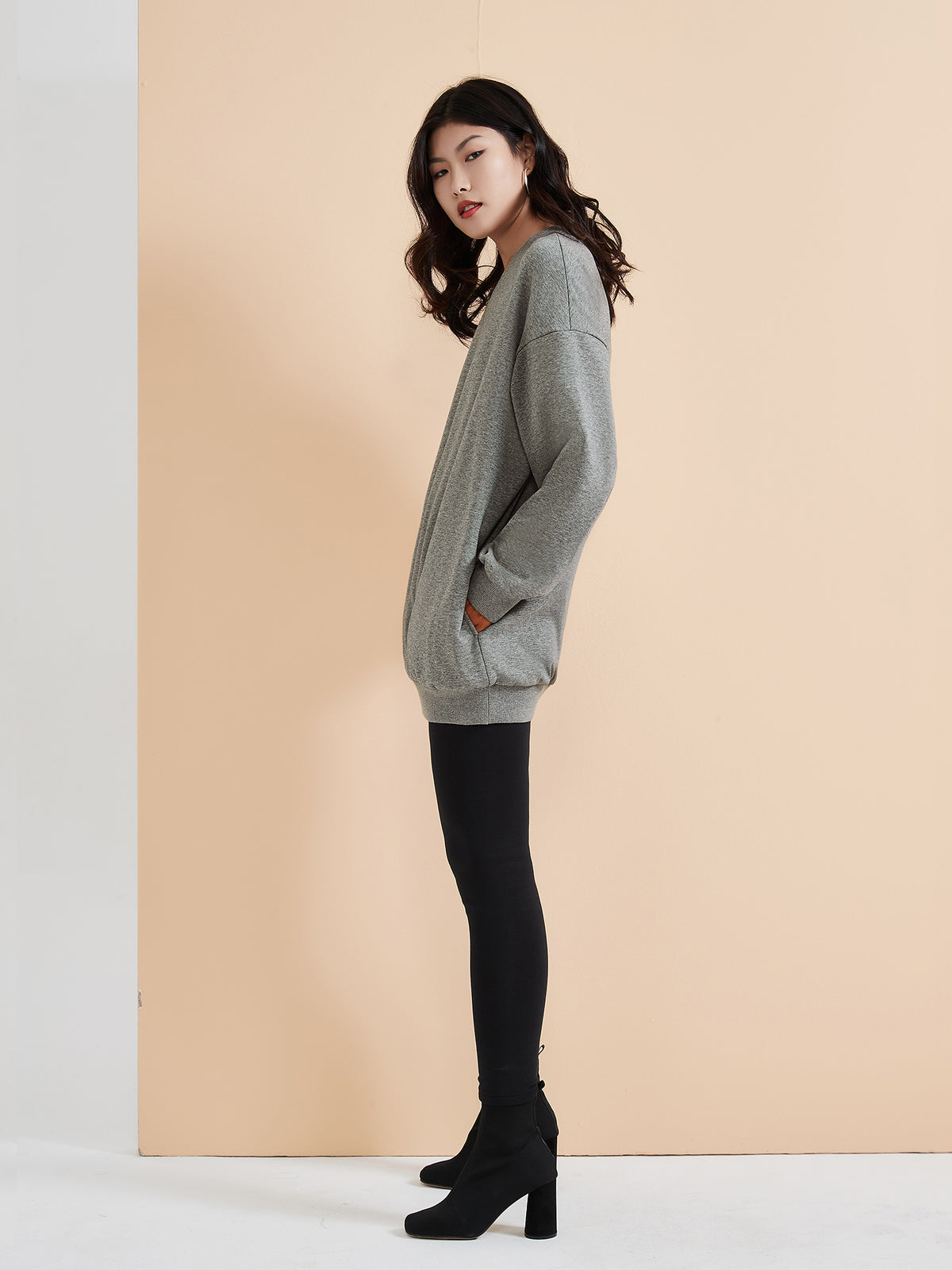 Cubby Sweater - Oversized, Pebble Gray