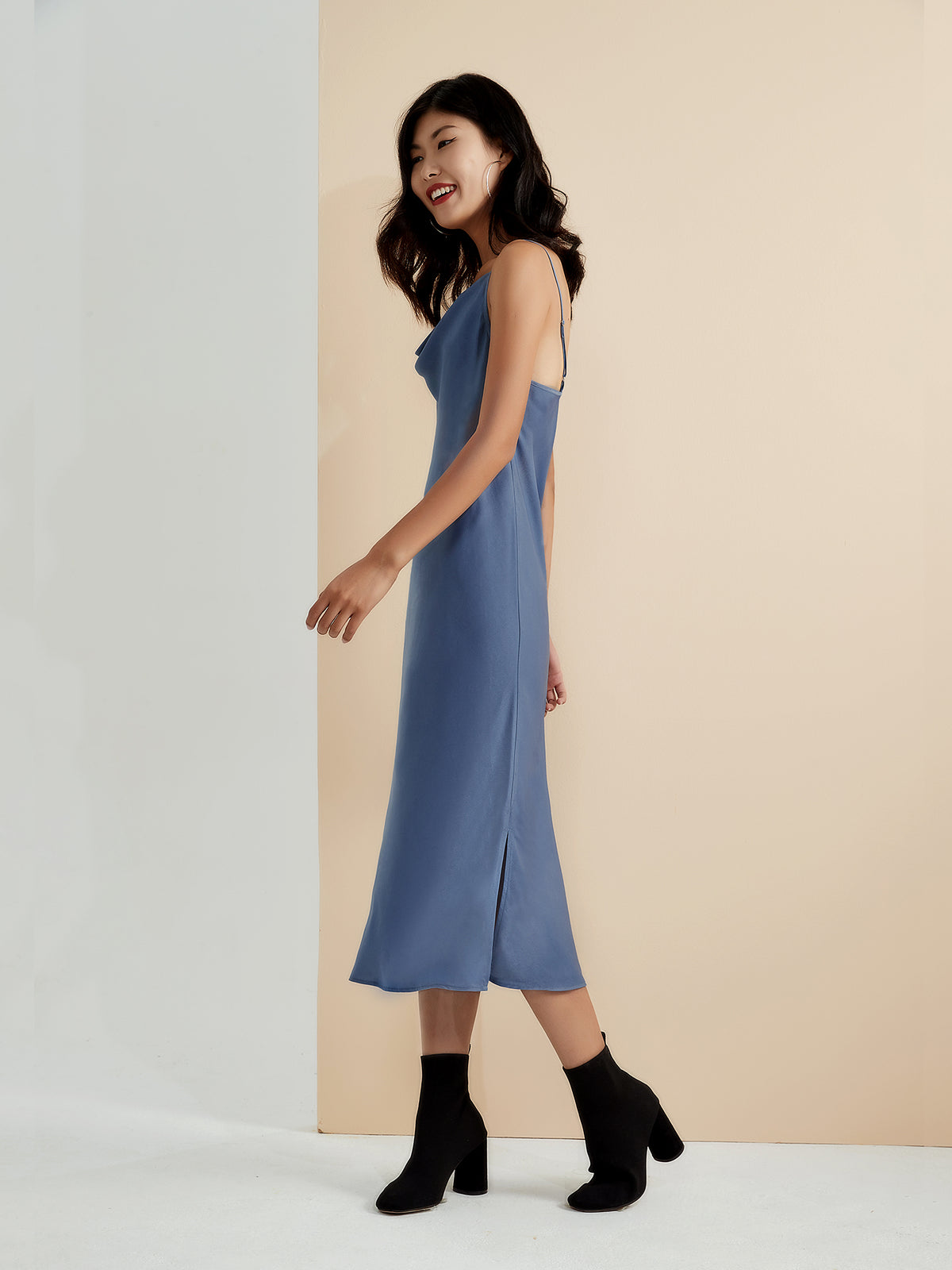 Eden Slip Dress - Willow Blue