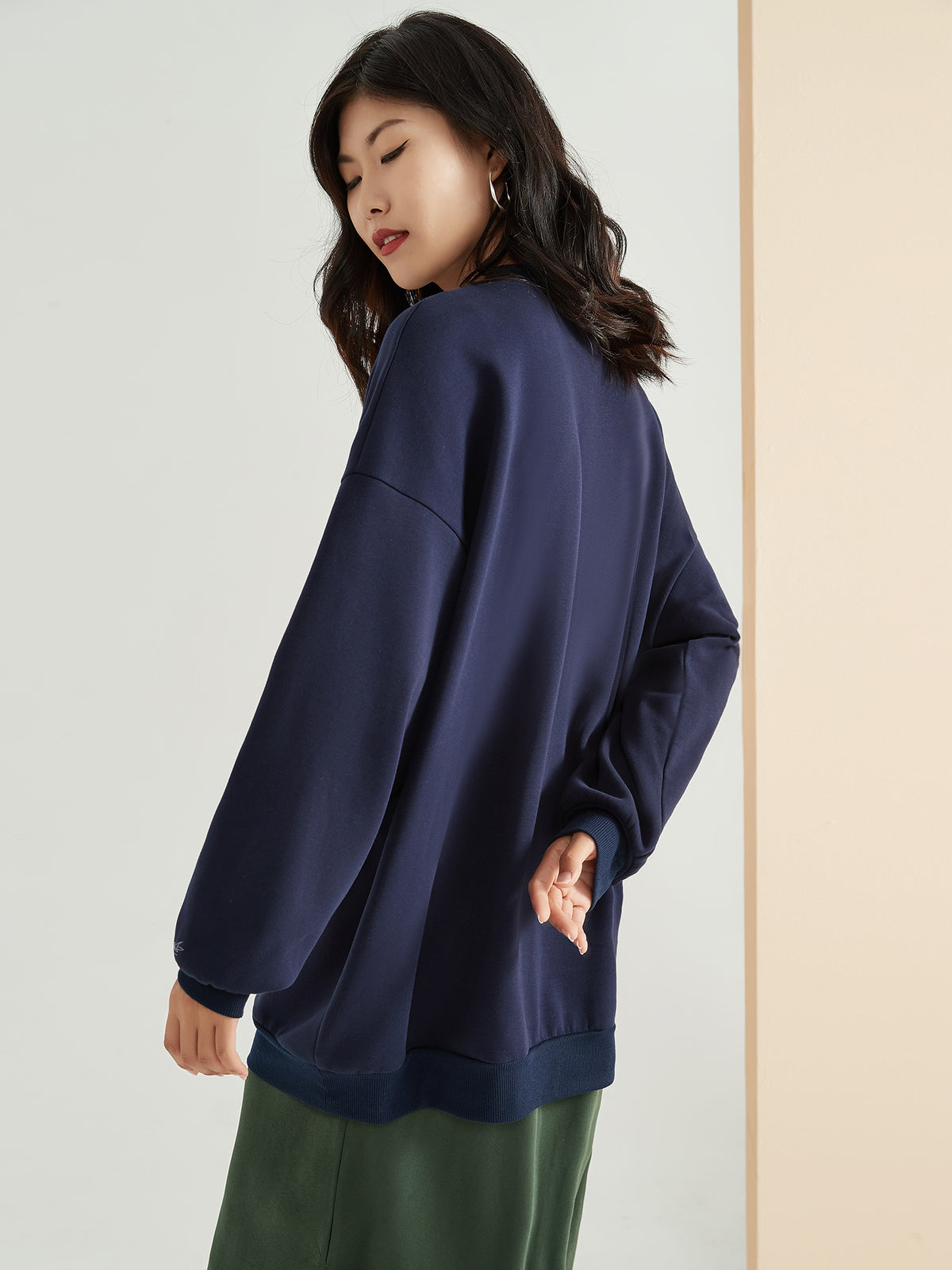 Cubby Sweater - Oversized, Midnight Navy