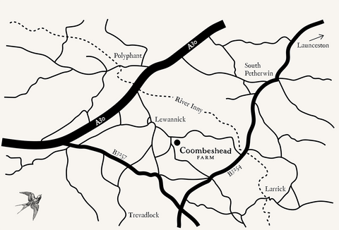 Coombeshead Farm Location