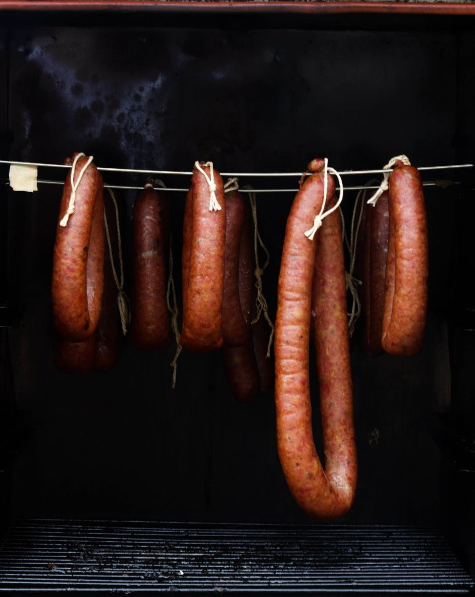 Hot Smoked Duck Sausage