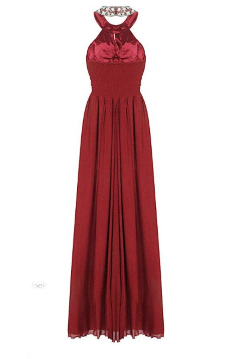 Donna Berry Crystal Grecian Maxi Gown Dress