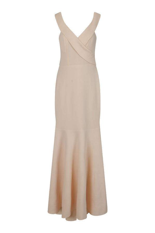 Camila Nude Bardot Maxi Fishtail Dress