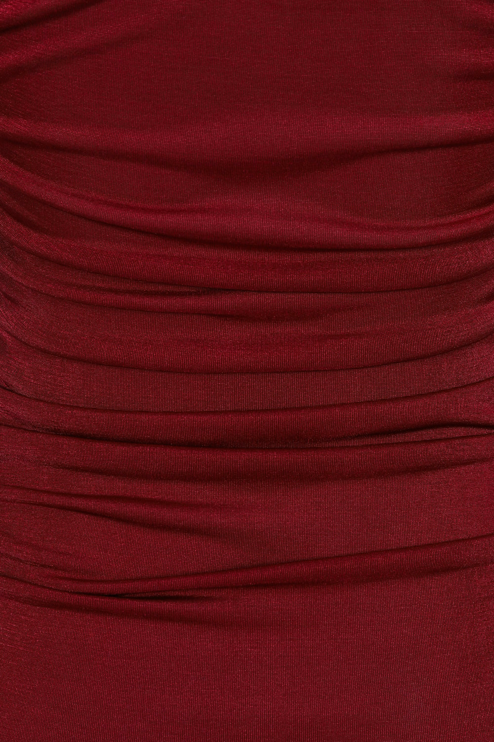 All Ruched Up Berry Off The Shoulder Long Sleeve Slinky Mini Dress