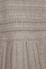 Carmela Stone Woven Cable Knit 3 Piece Lounge Set