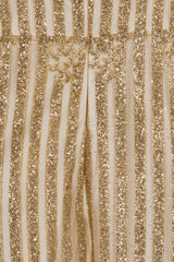 Kimberley Sparkle Glitter White & Gold Victorian Midi Dress