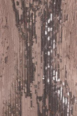 Own It Rose Gold Mirror Sequin Tassel Fringe Hem Midi Dress