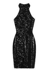 Lolita Black Victorian Sequin Illusion Bodycon Dress