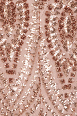 Spotlight Rose Gold Vip Luxe Sequin Backless Mermaid Fishtail Dress