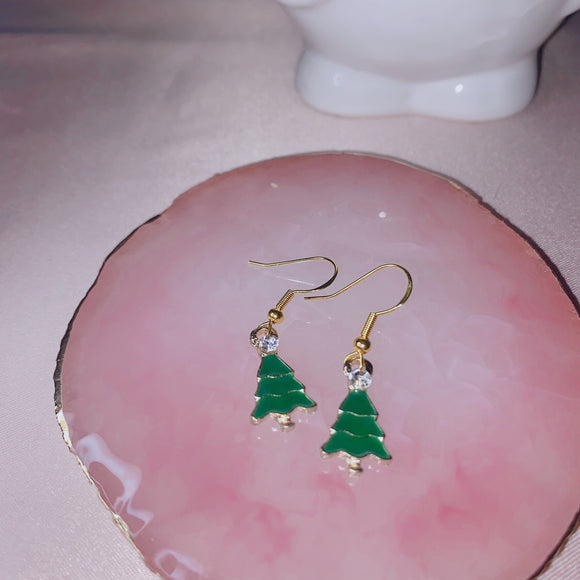 Christmas Tree Earrings 1