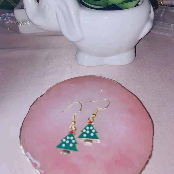 Christmas Tree Earrings Set 2