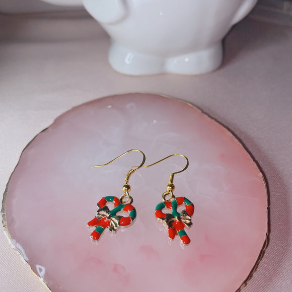 Christmas Pretzels Earrings
