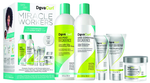 DevaCurl Miracle Workers for Super Curly Hair - Special Kit, Limited Quantities!