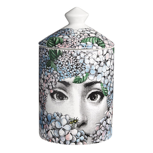 Fornasetti Ortensia Rose, Iris and Orange Blossom scented candle (Back)
