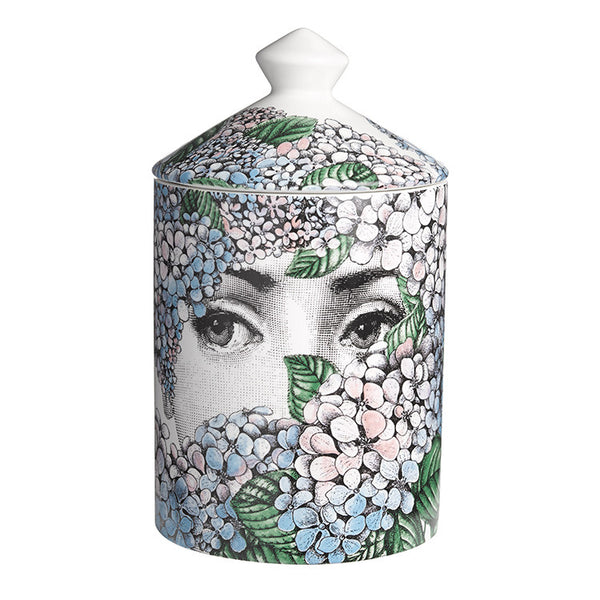 Fornasetti Ortensia Rose, Iris and Orange Blossom scented candle (Front)