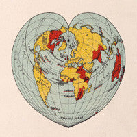 Cordiform projection of the world