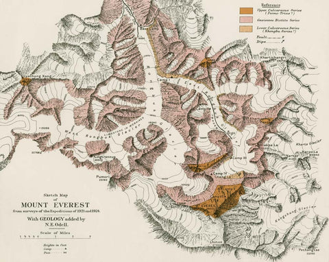 Sketch Map of Mount Everest