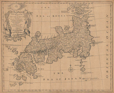 A New & Accurate Map of the Empire of Japan