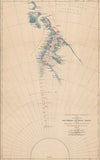 British Antarctic Expedition - Route & Surveys of the Southern Journey Party 1908-09