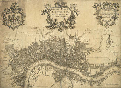 A new plan of the City of London Westminster and Southwark