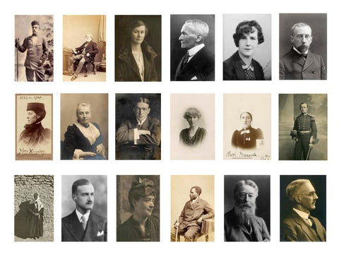 Portraits of notable travellers, explorers and geographers