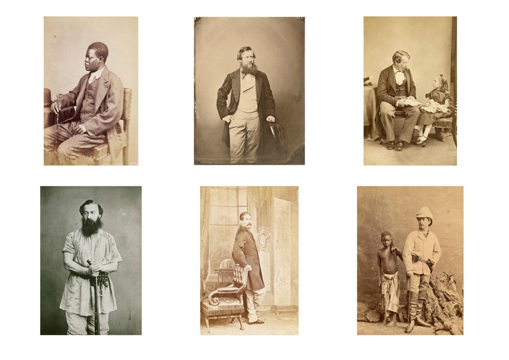 Print of 6 portraits of notable African explorers. Royal Geographical Society (with IBG)
