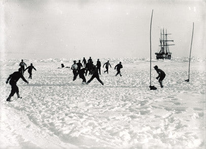 Playing football on the ice