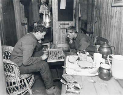 Dr Leonard Hussey & Frank Hurley playing chess on board the Endurance