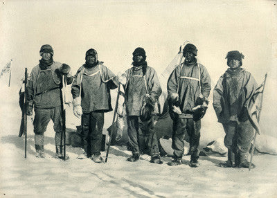 At the South Pole (left to right) - Wilson, Scott, Evans, Oates & Bowers