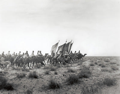 Ibn Saud's (Abd al-Aziz Ibn Saud) army on the march near Habl