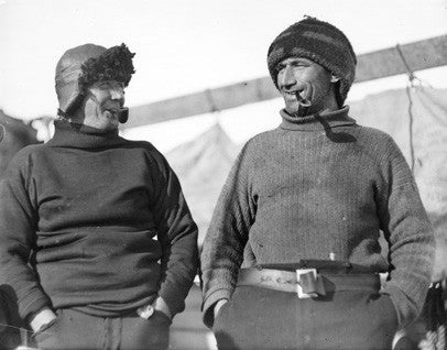 Alfred Cheetham and Tom Crean (left to right)