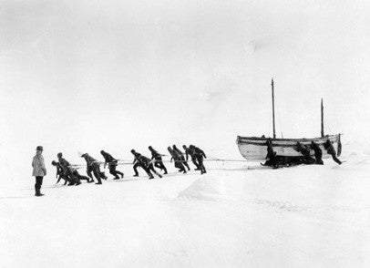 Relaying the James Caird across the ice