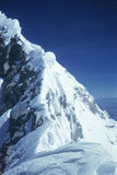 The summit ridge of Everest (showing the Hillary step)